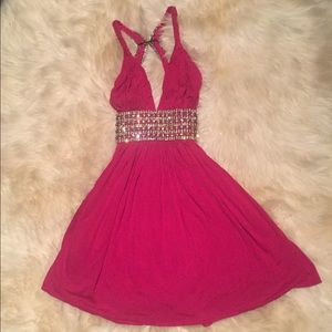 Sky Pink Embellished Dress Small
